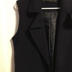Jackets & Coats - Navy Blue Vest